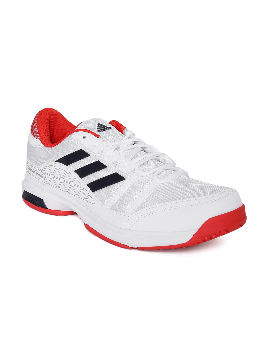 ab980799a3c Buy ADIDAS Unisex White Barricade Court OC Tennis Shoes - Sports ...