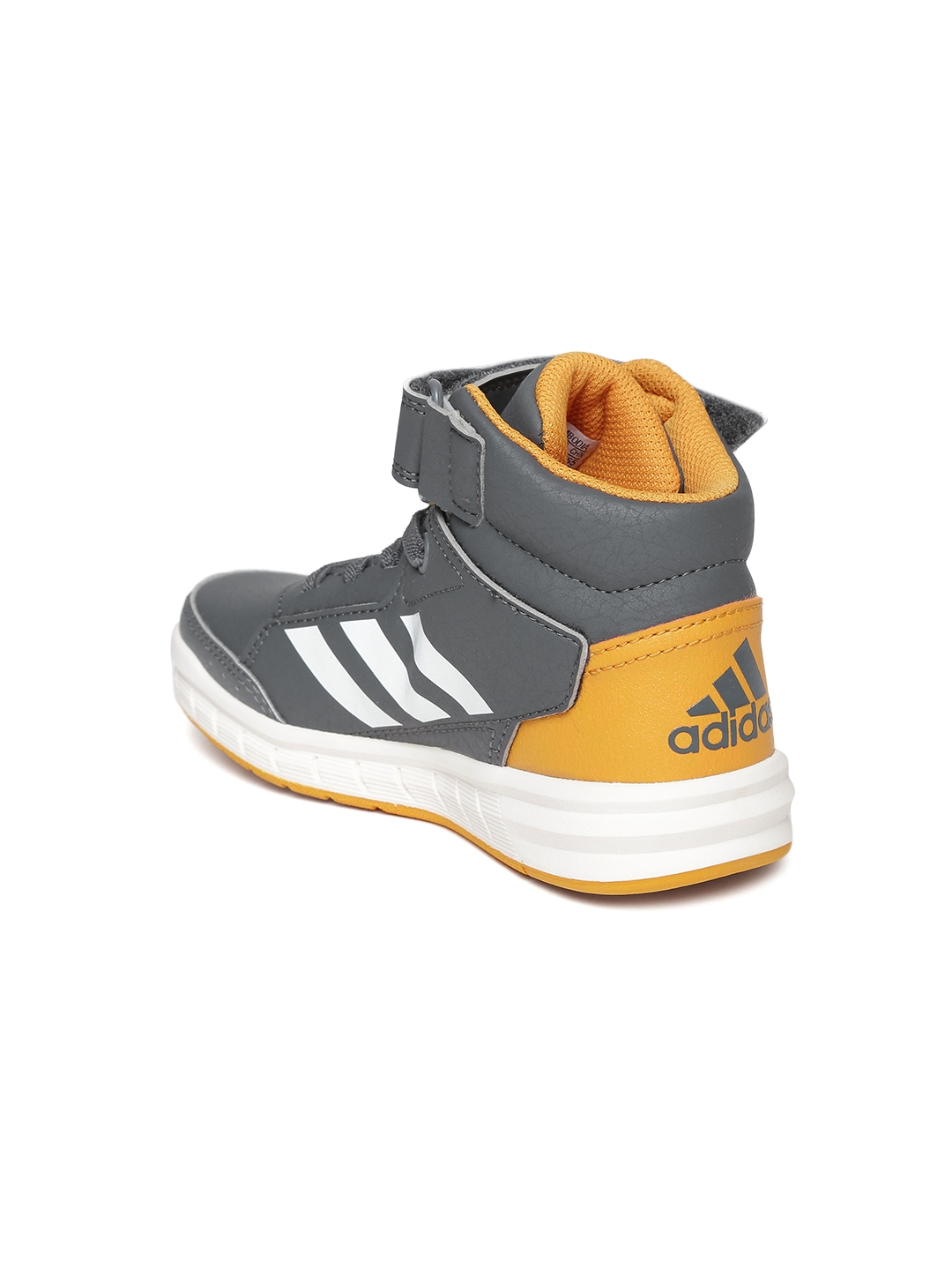 252ce60a9301 Buy ADIDAS Kids Grey AltaSport Eco Ortholite Mid Top Training Shoes ...