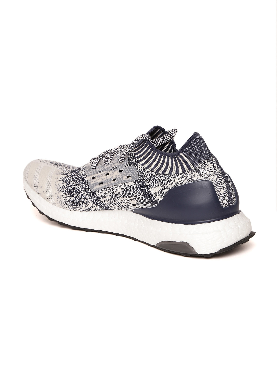 4bd5e2f79283 Buy Adidas Men Off White   Navy Ultraboost Uncaged Running Shoes ...