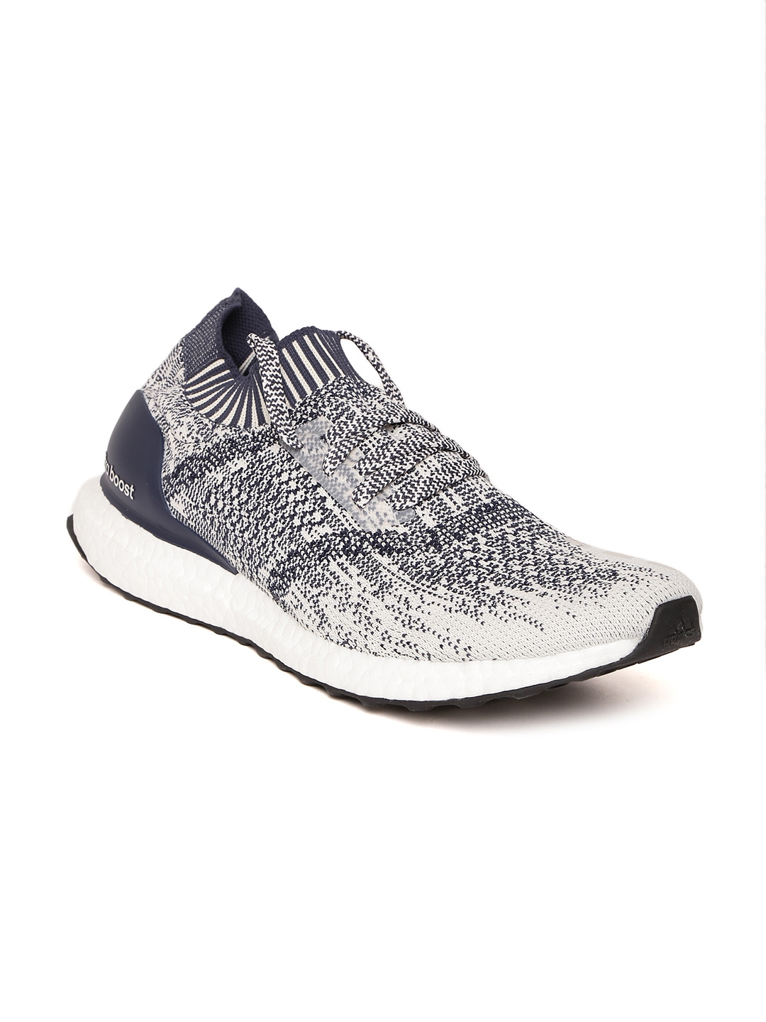 3ba934bc9b847 Buy ADIDAS Men Off White   Navy Ultraboost Uncaged Running Shoes ...