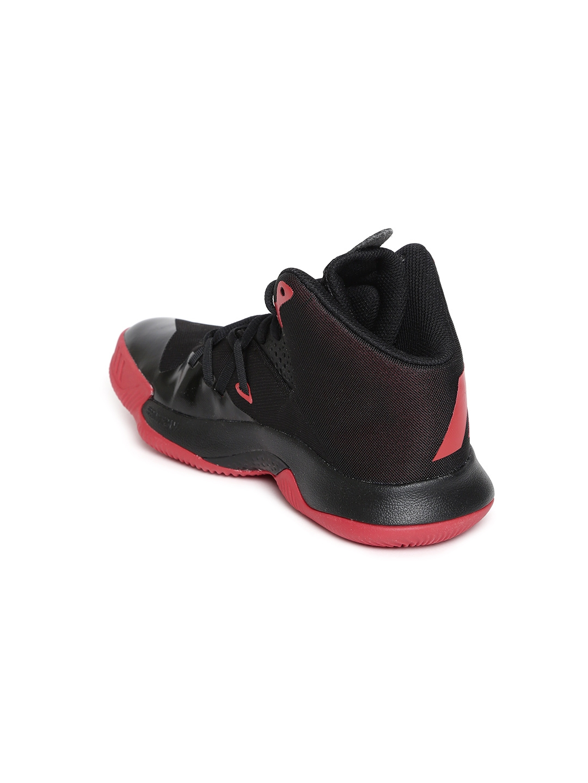 7607699b22c81 Buy ADIDAS Kids Black Dual Threat Basketball Shoes - Sports Shoes ...