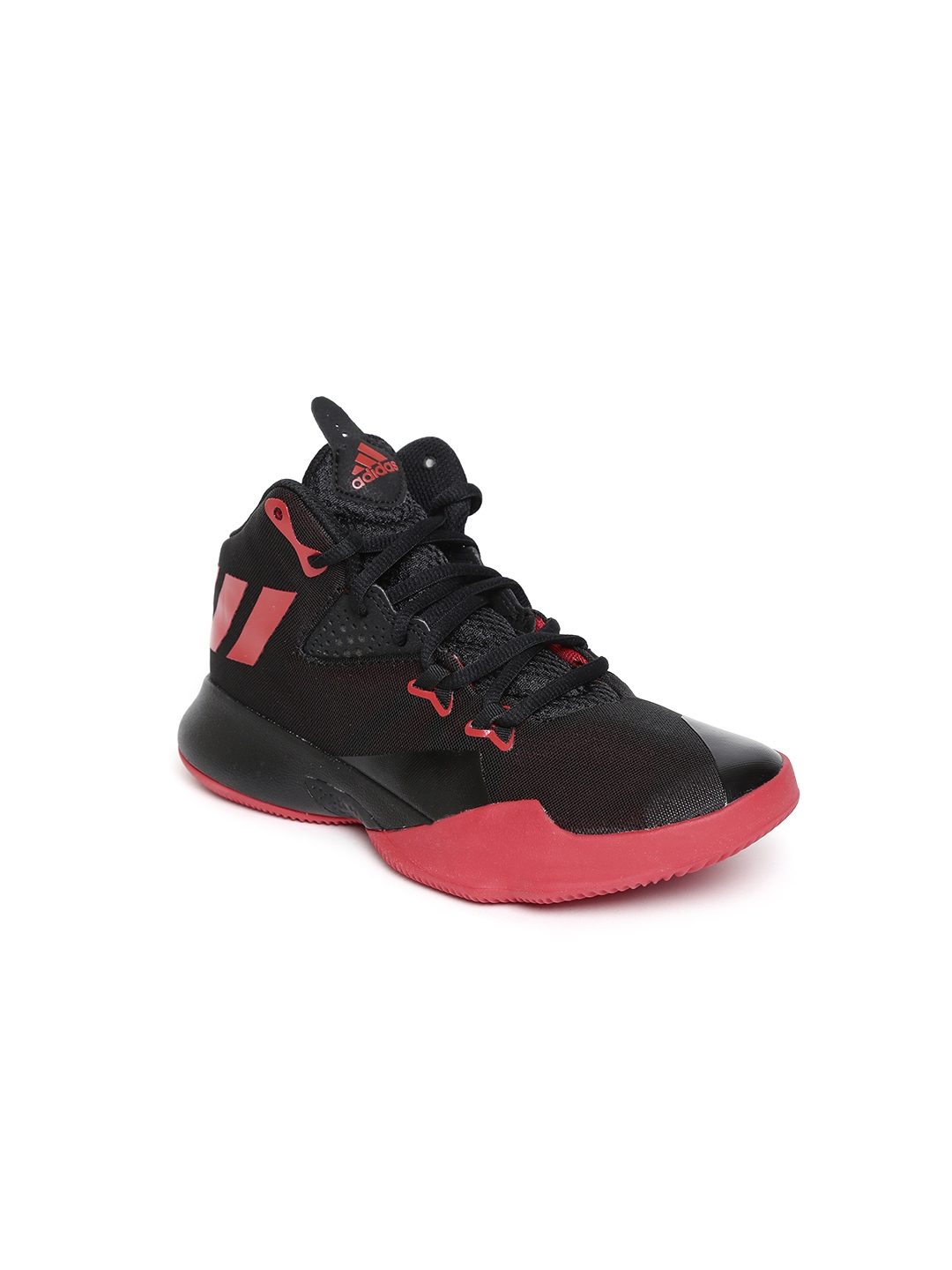 ca336489ff01 Buy ADIDAS Kids Black Dual Threat Basketball Shoes - Sports Shoes ...