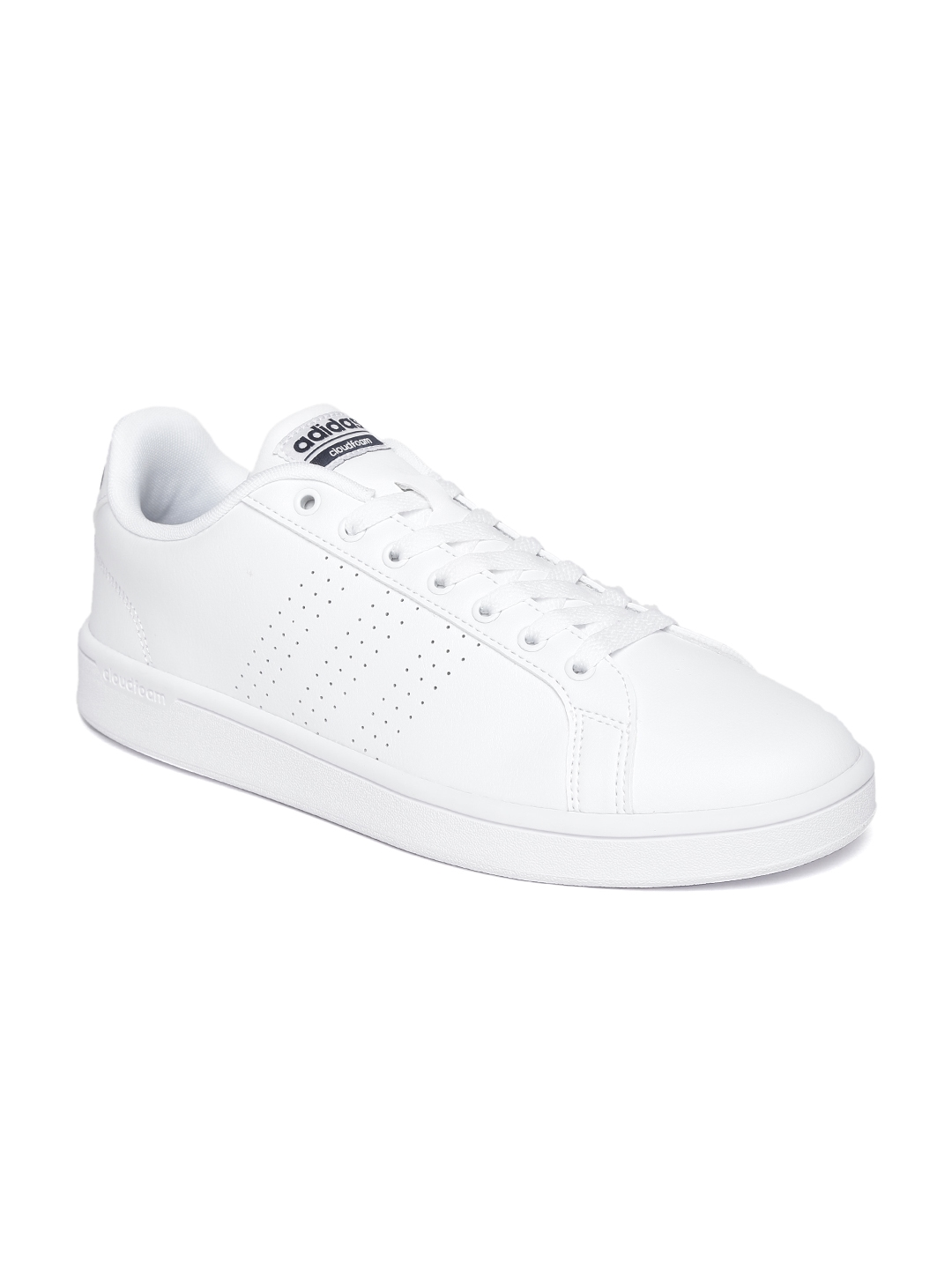 bb7ef0ede6eb Buy ADIDAS NEO Men White CloudFoam Advantage Clean Leather Sneakers ...