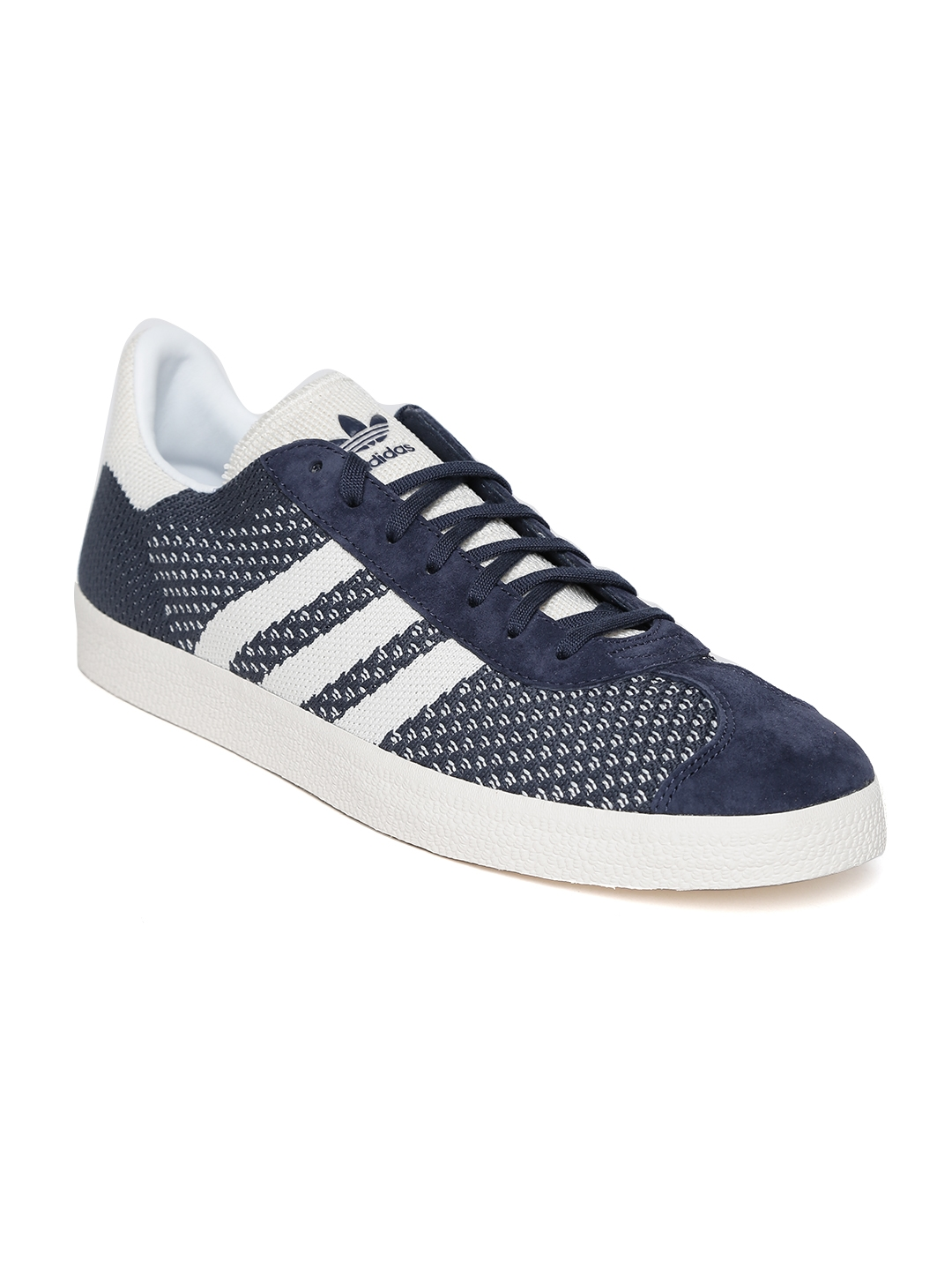 cheap for discount fa642 91520 ADIDAS Originals Men Navy GAZELLE PrimeKnit Sneakers