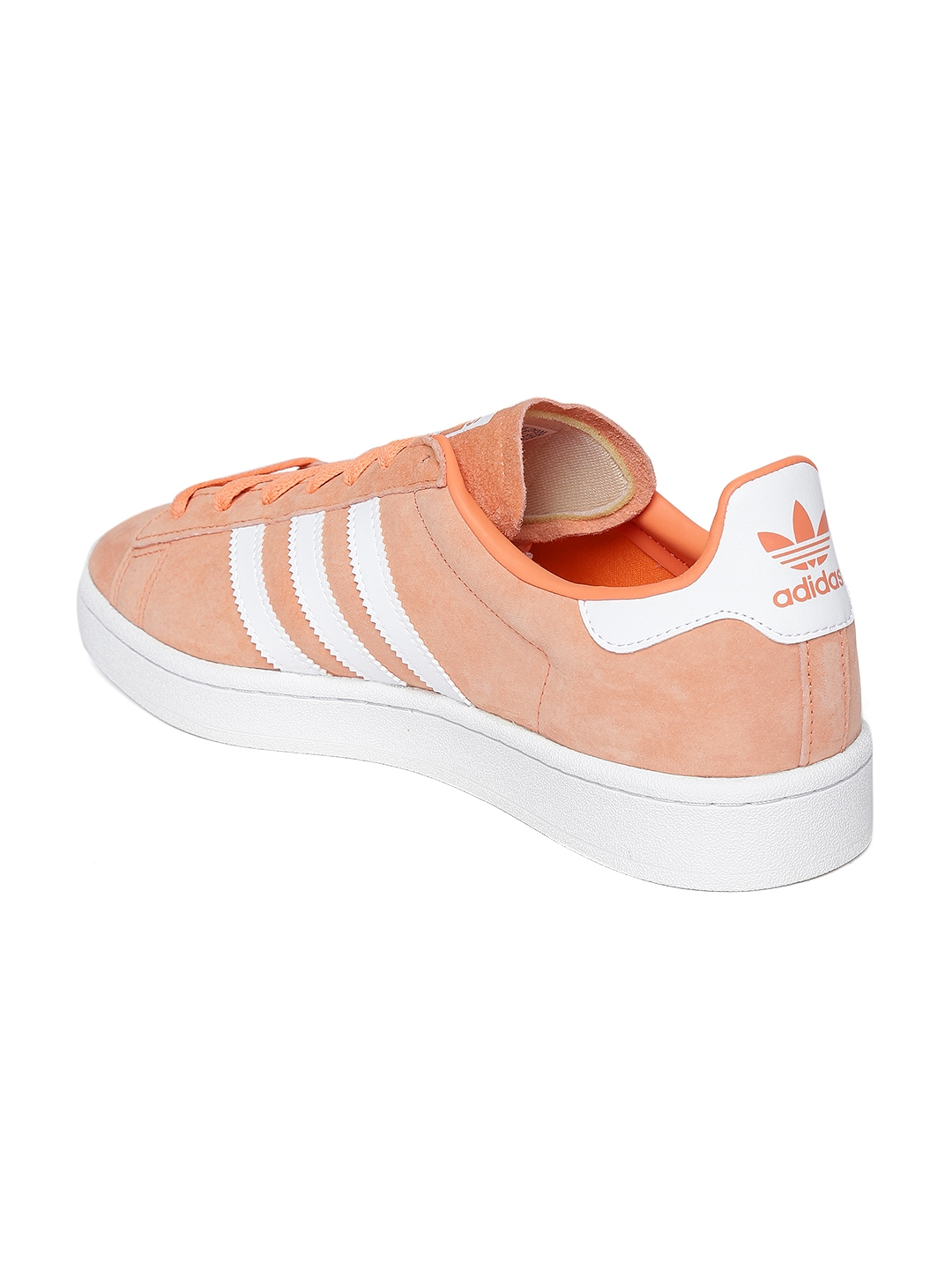 more photos 95ee7 ce2d7 ADIDAS Originals Men Peach-Coloured Campus Leather Sneakers