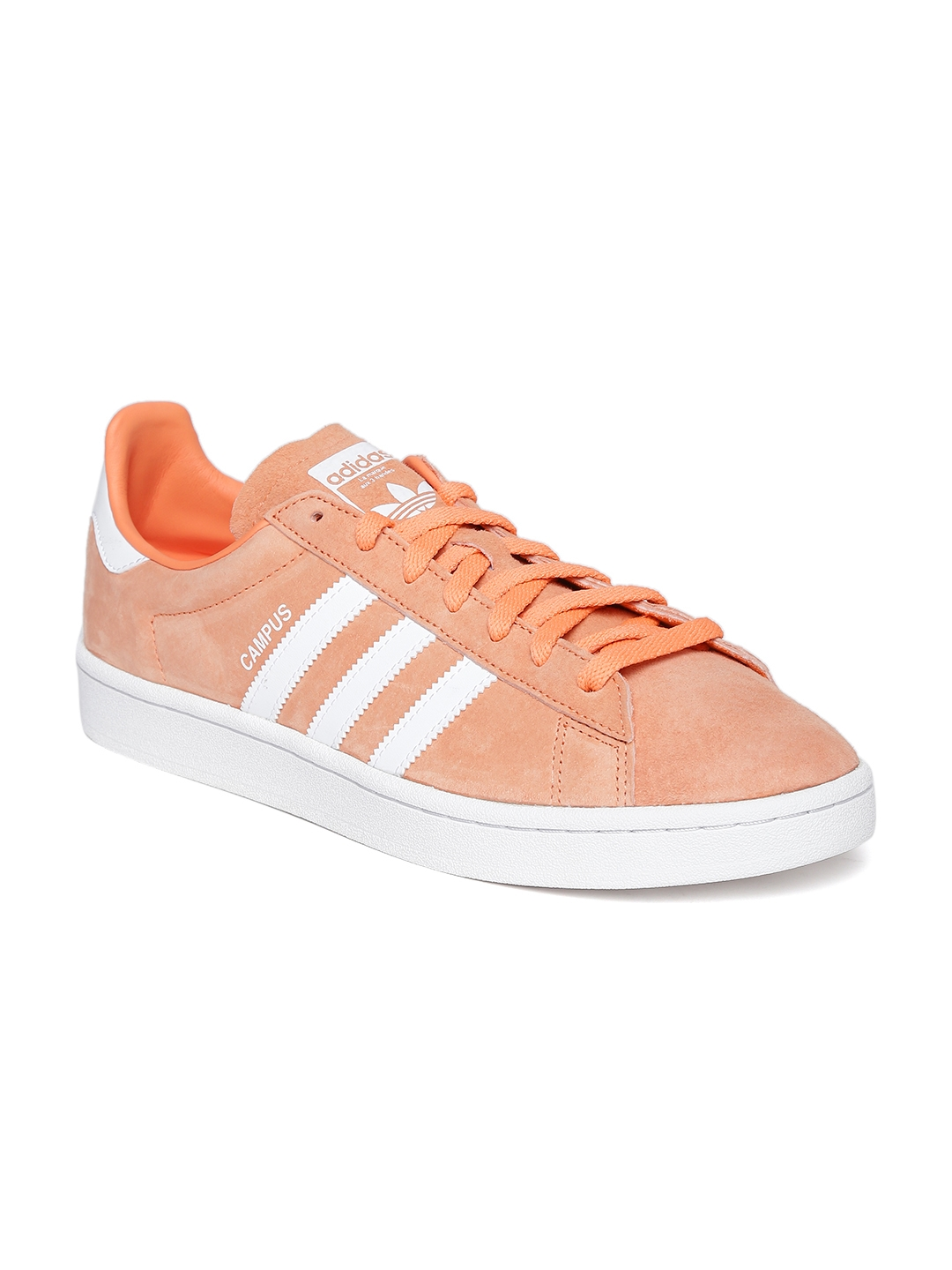 Buy ADIDAS Originals Men Peach Coloured Campus Leather Sneakers ... 58aac7d66