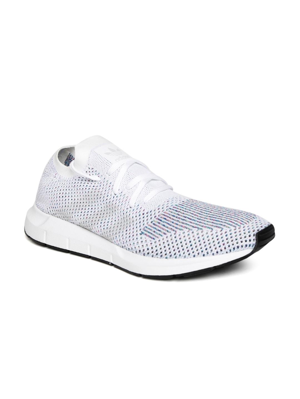 335afda12050 Buy ADIDAS Originals Men Off White Swift Run PrimeKnit Sneakers ...