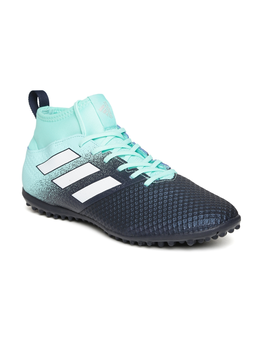 outlet store c48f9 c6dd8 ADIDAS Men Navy   Mint Green ACE TANGO 17.3 TF Football Shoes