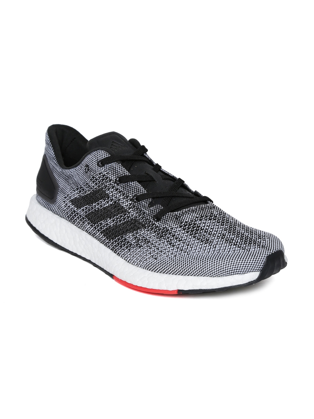 9a01371115c05 Buy ADIDAS Men Black   White PUREBOOST DPR Running Shoes - Sports ...