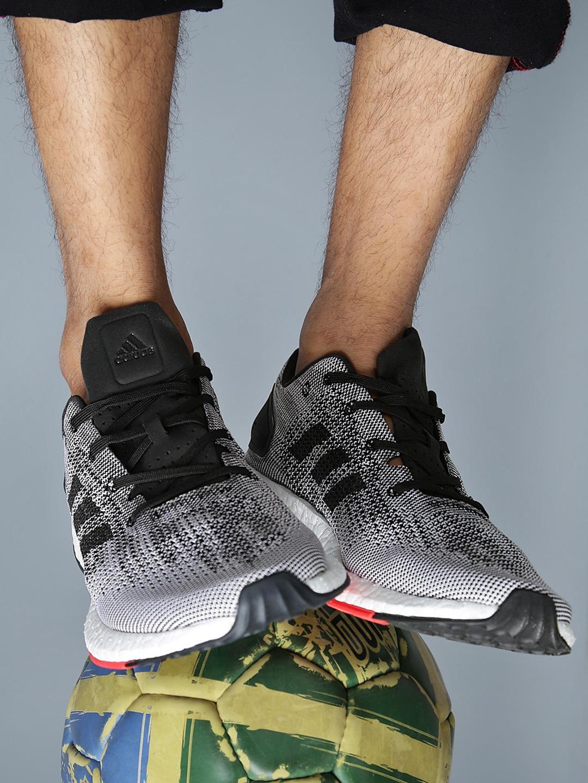 ea1a93784 Buy ADIDAS Men Black   White PUREBOOST DPR Running Shoes - Sports ...