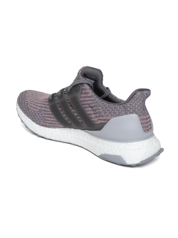 5271b3d5884cb Buy ADIDAS Men Grey   Pink ULTRABOOST Running Shoes - Sports Shoes ...