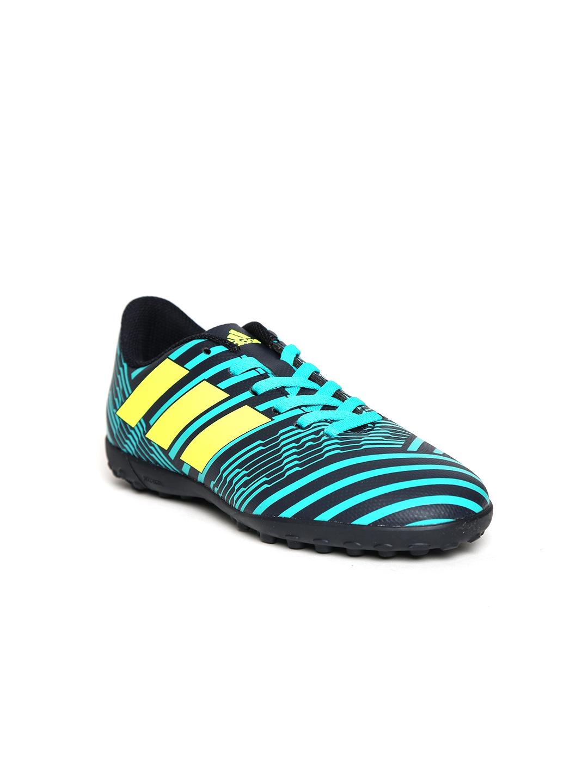 6e563723fb3a Buy ADIDAS Boys Navy   Teal Green NEMEZIZ 17.4 TF J Football Shoes ...