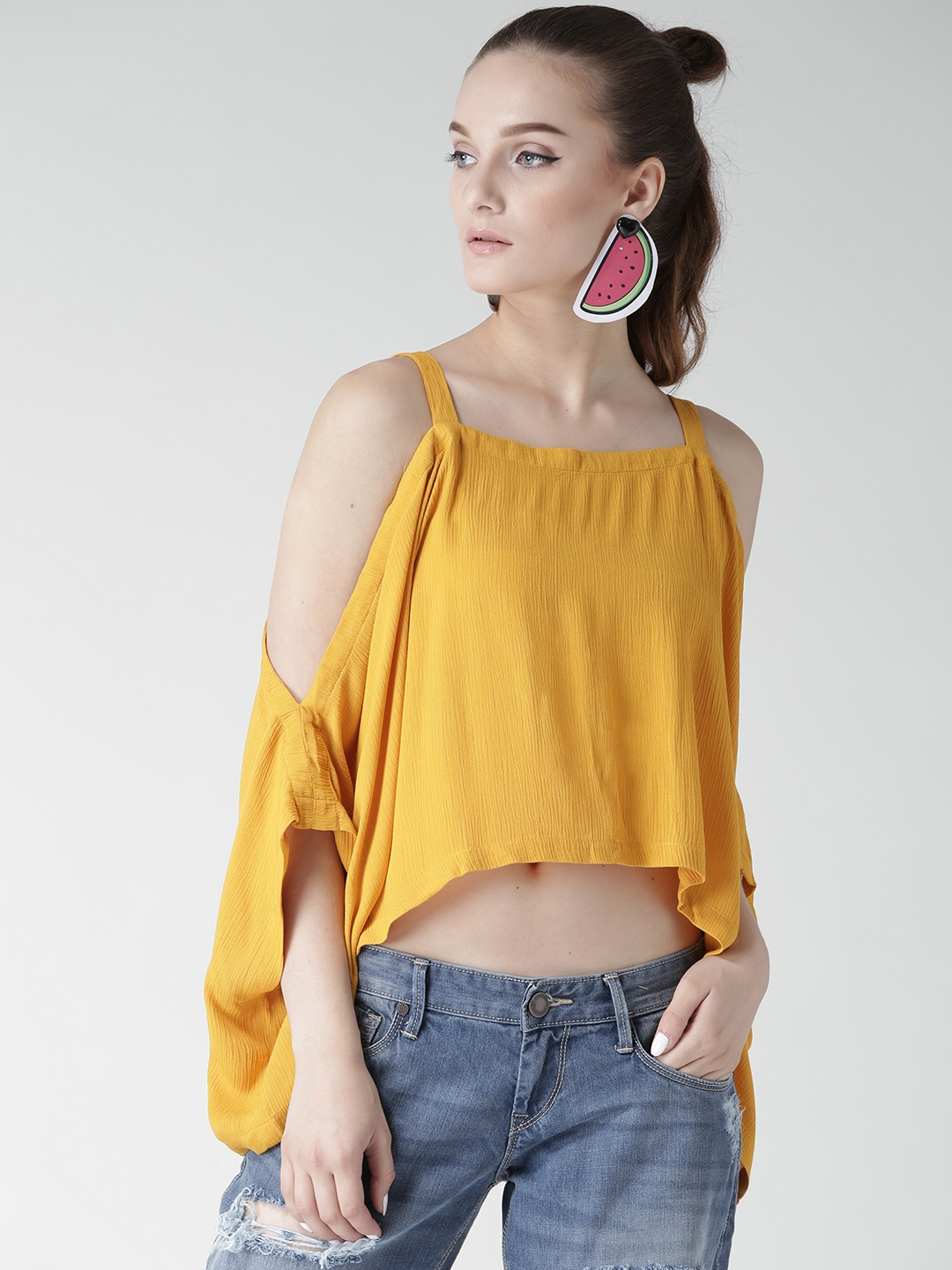 a06cba63c2ade Buy FOREVER 21 Women Mustard Yellow Top - Tops for Women 1990364 ...