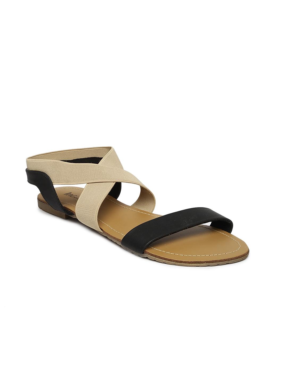 f81d952ff4fc Buy Inc 5 Women Black   Beige Colourblocked Flats - Flats for Women ...