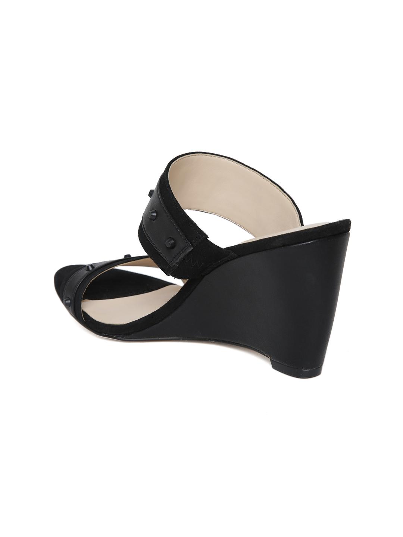 ad2800d49885 Buy Nine West Women Black Solid Wedges - Heels for Women 1991683 ...