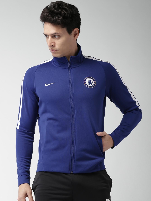 3a50fcbad Buy Nike Men Blue Chelsea Football Club Franchise Soccer Jacket ...