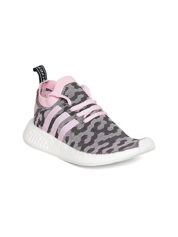 0c2952556980fb Buy Adidas Originals Women Black   Pink NMD R2 Sneakers - Casual ...