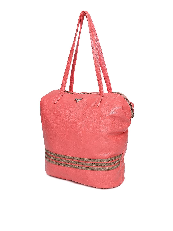 Buy Baggit Coral Pink Oversized Shoulder Bag - Handbags for Women ... 65acf56b11cc2