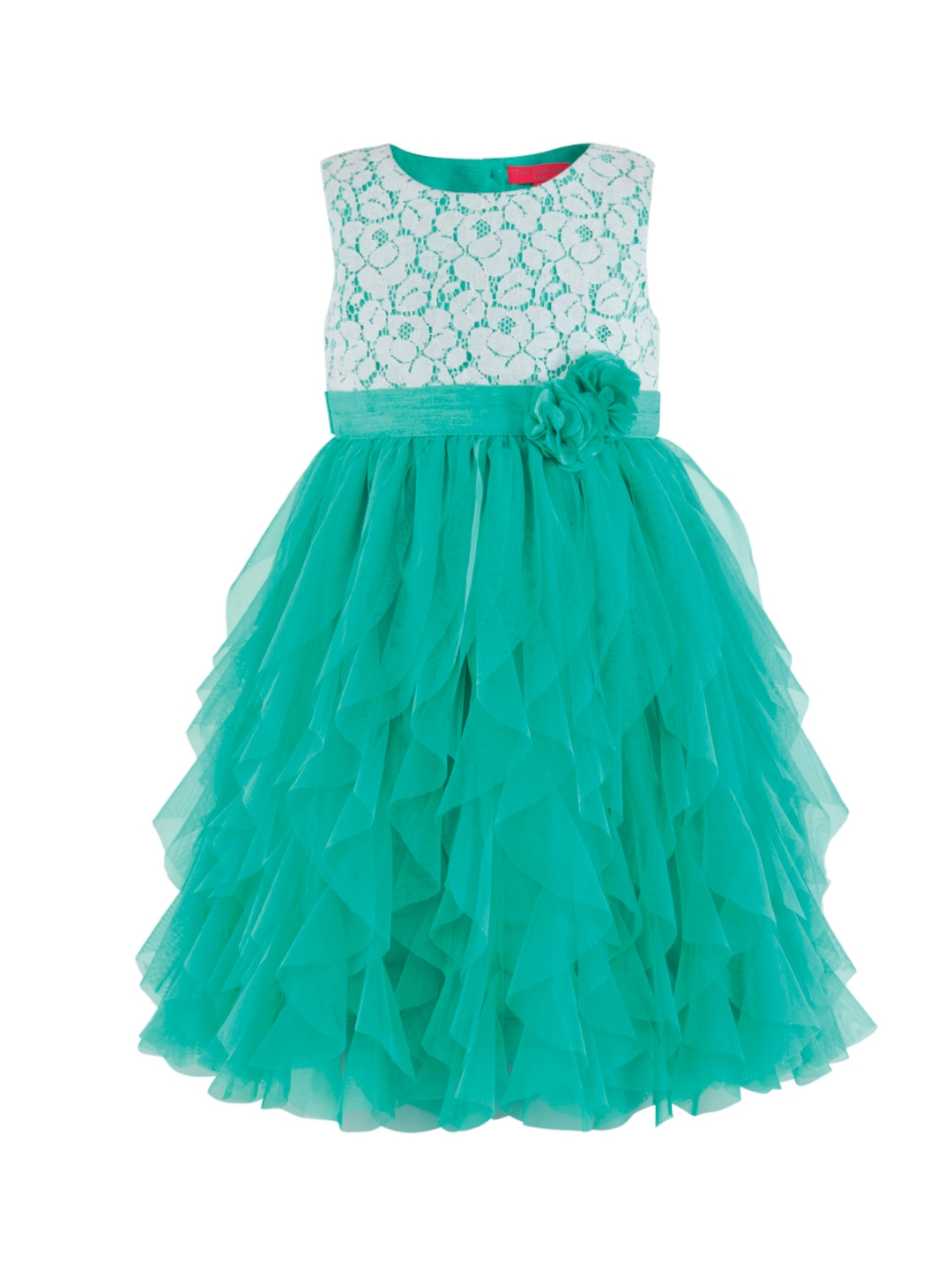 83d5f878a6a Buy Toy Balloon Kids Girls Sea Green Self Design Fit And Flare Dress ...