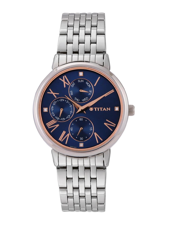 Titan Women Navy Blue Multifunction Analogue Watch 2569SM01