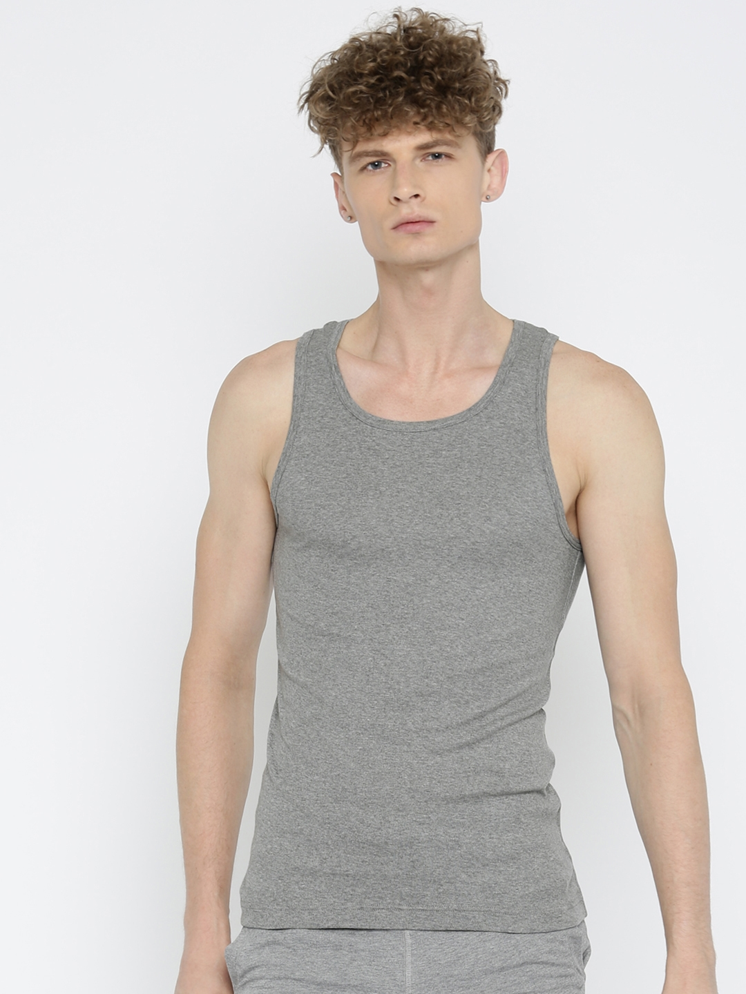 Jockey Men Grey Innerwear Vest FP04 0105