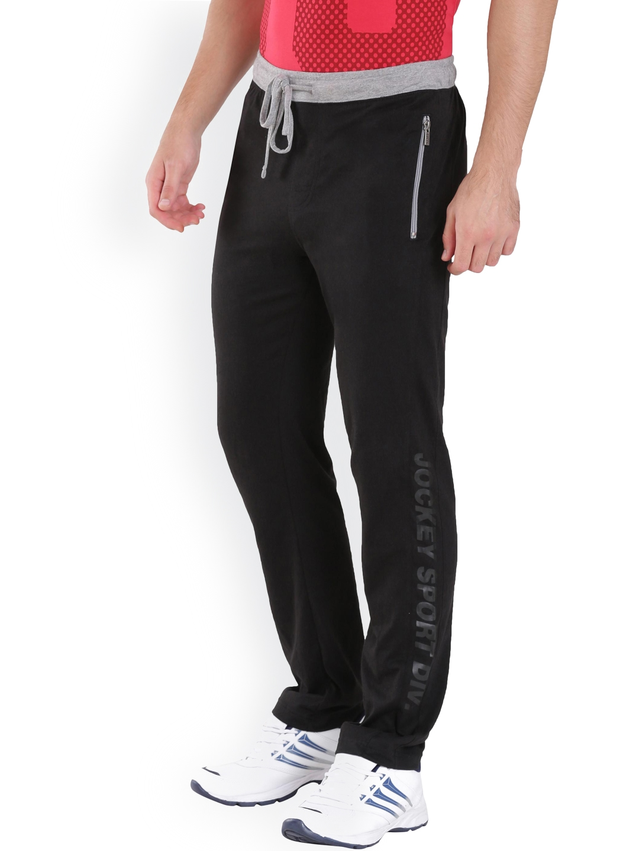 df923c86e6 Buy Jockey Men Black Slim Fit Track Pants - Track Pants for Men ...