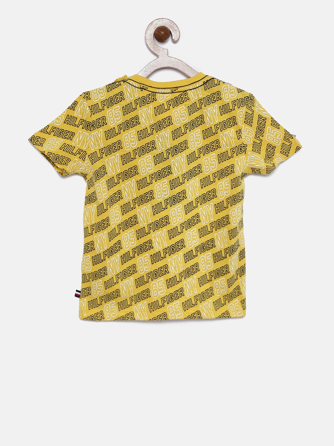 c0bf9d77 Buy Tommy Hilfiger Boys Yellow Printed Round Neck T Shirt - Tshirts ...