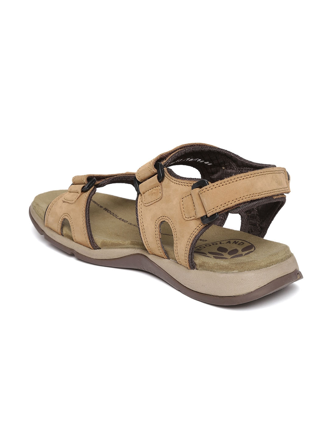 591dfd12ba9 Buy Woodland ProPlanet Men Beige Nubuck Leather Sandals - Sandals ...