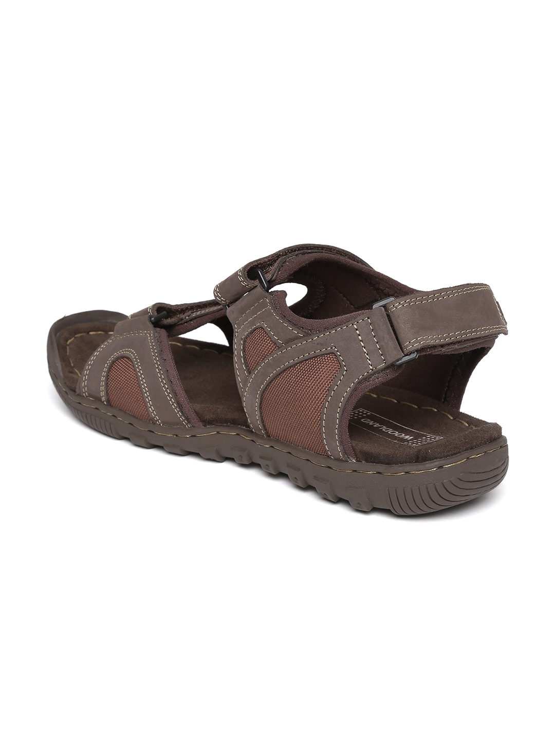 9e1ffa0cc5e Buy Woodland Men Brown Nubuck Leather Sandals - Sports Sandals for ...