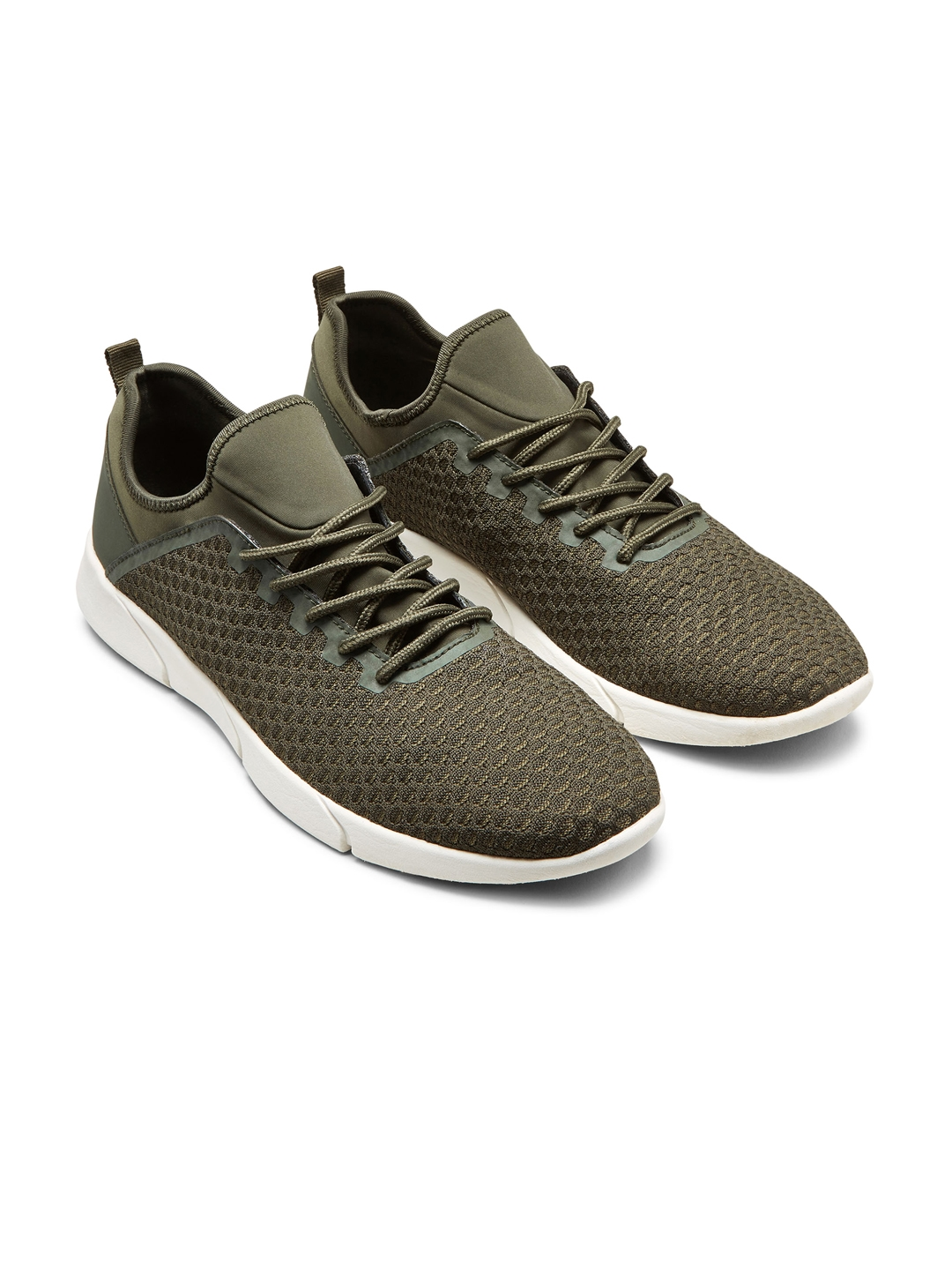 00c82ca3c975 Buy Next Men Olive Green Sneakers - Casual Shoes for Men 2003154 ...