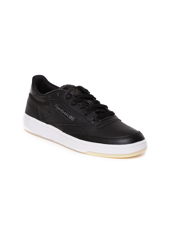 Buy Reebok Classic Women Black Club C 85 Leather Sneakers - Casual ... 6efb4de4b