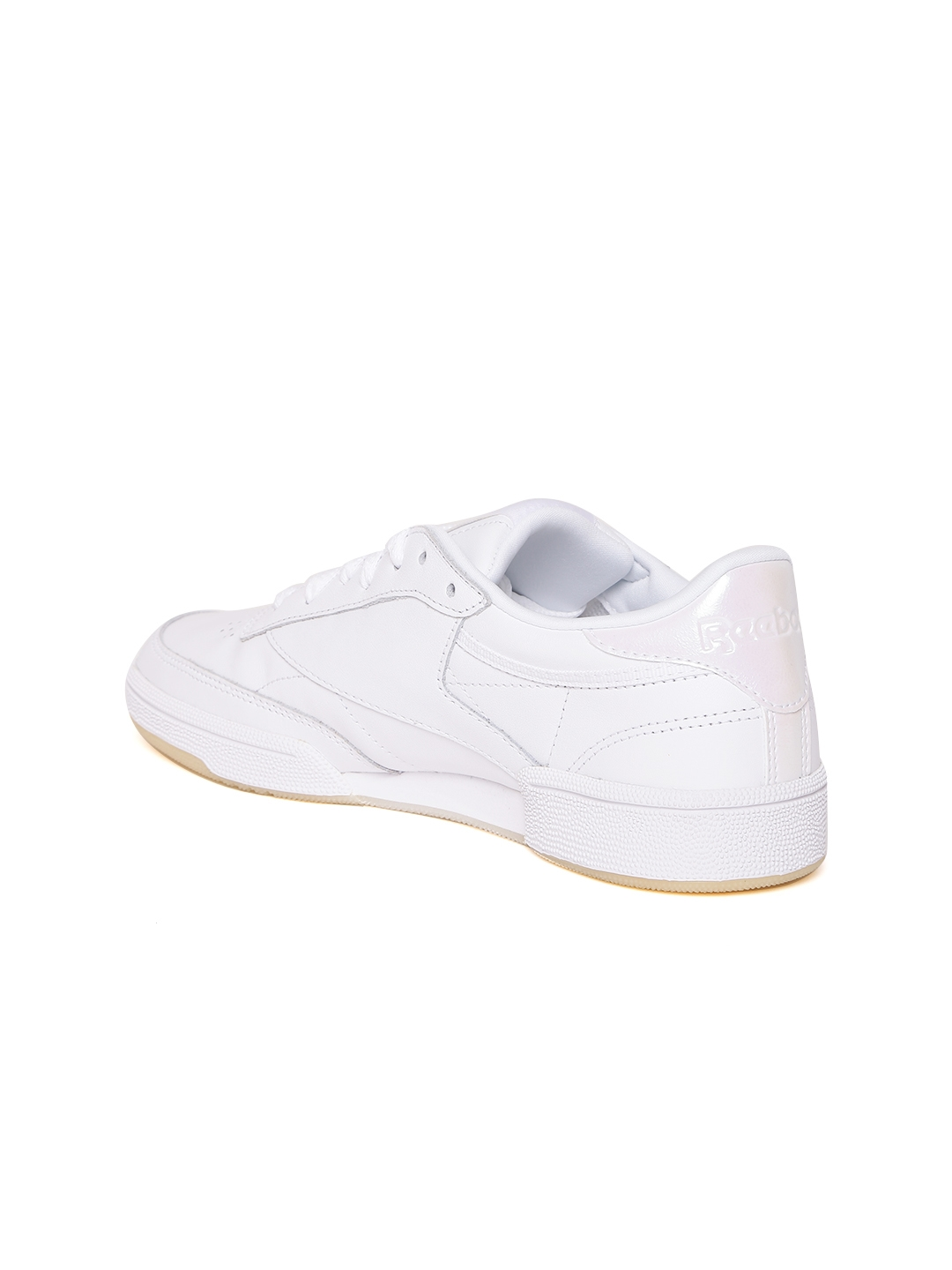 93ec40f3baf2 Buy Reebok Classic Women Off White Club C 85 Leather Sneakers ...