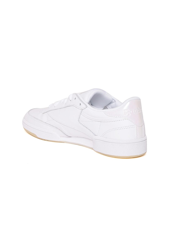 b03d44de Buy Reebok Classic Women Off White Club C 85 Leather Sneakers ...