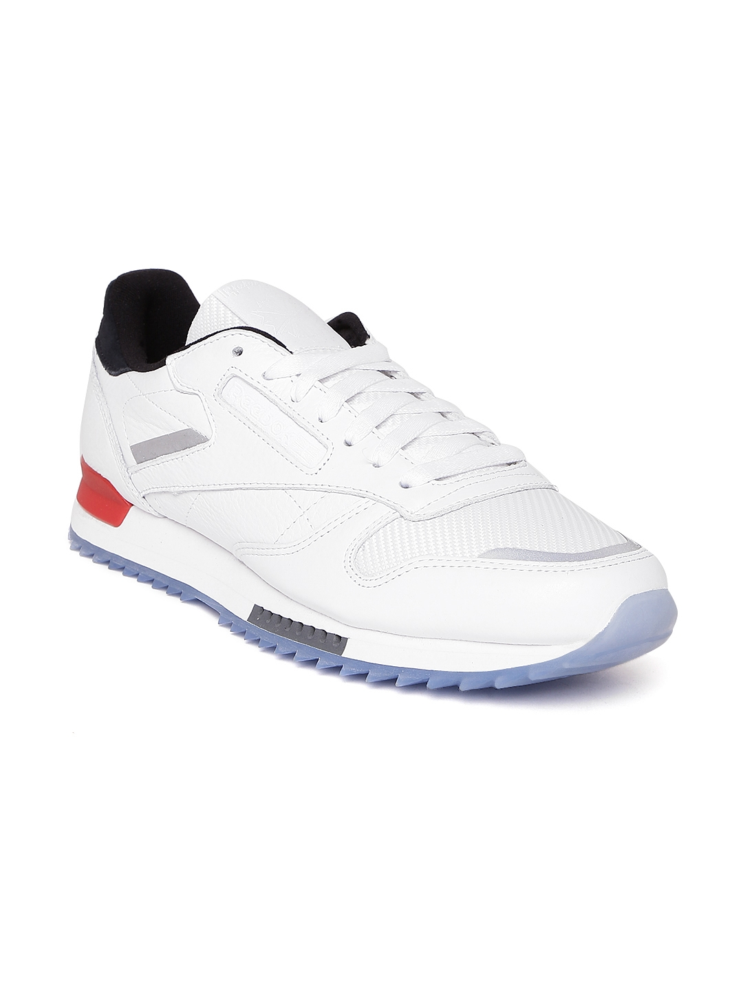 2235b31f336 Buy Reebok Classic Men White CL Leather Ripple BP Sneakers - Casual ...