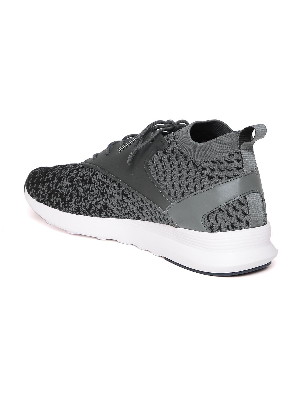 25d39b6e26c Reebok Classic Men Grey   Black ZOKU Runner ULTK Fade Patterned Sneakers