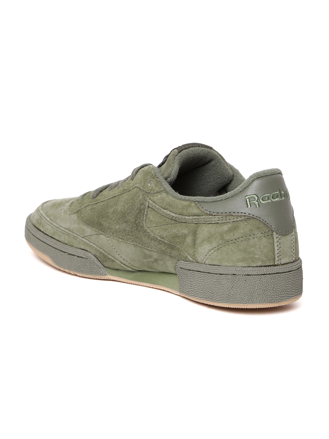 bb545420620 Buy Reebok Classic Men Olive Green CLUB C 85 SG Suede Sneakers ...