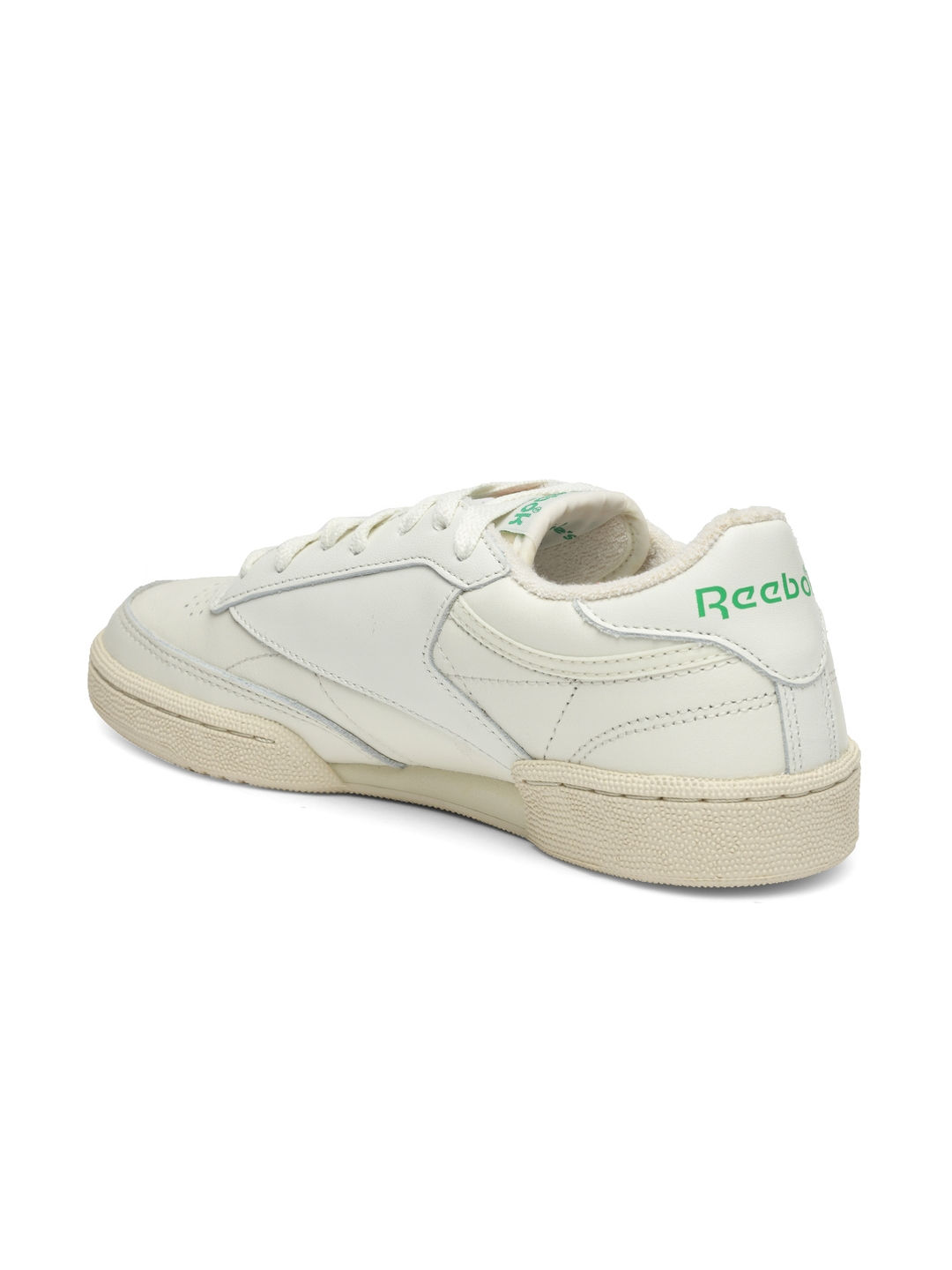 Reebok Classic Women Off-White Club C 85 Vintage Leather Sneakers 62d461a53