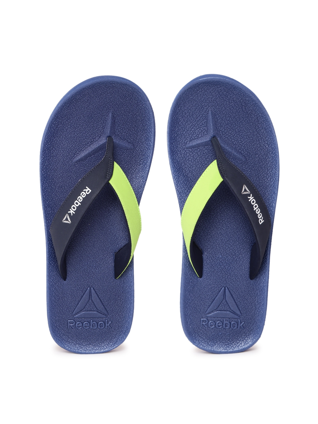 4b697cb95 Buy Reebok Men Navy   Green Adventure Colourblocked Flip Flops ...