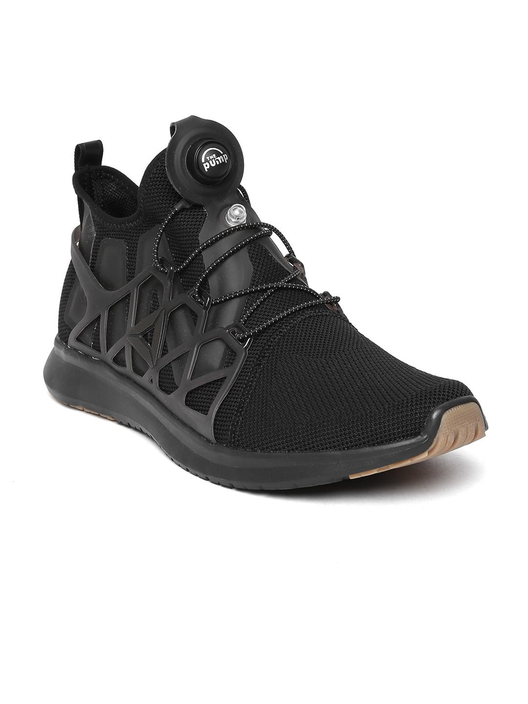 5701eacfdad032 Buy Reebok Men Black Pump Plus Cage Running Shoes - Sports Shoes for Men  2003598