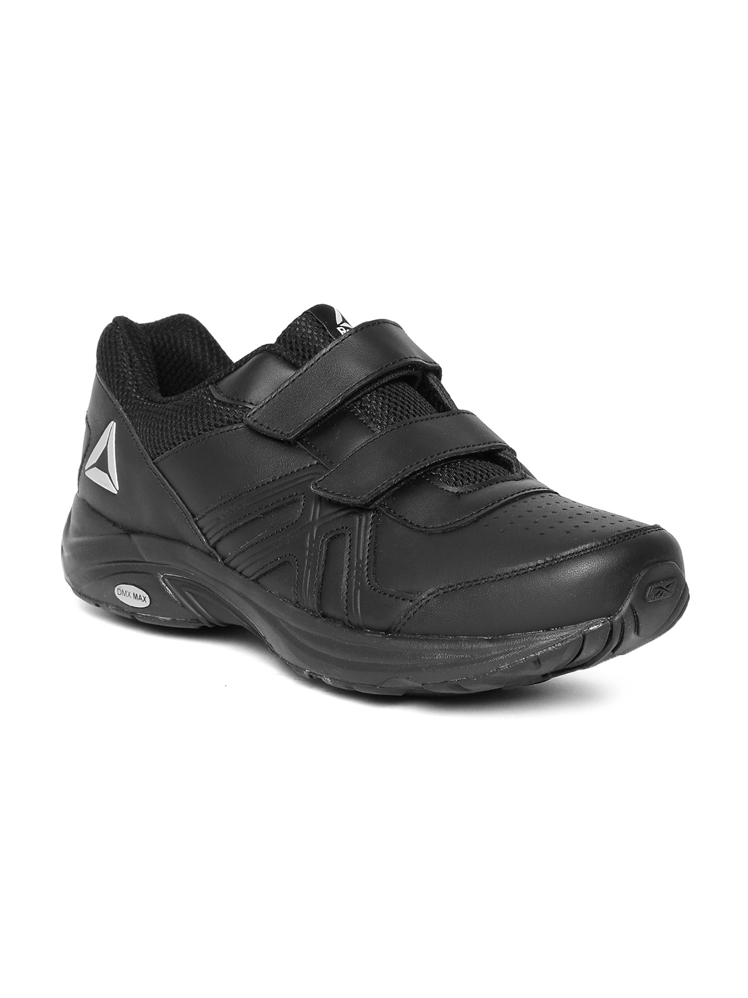 a34c7c53914a7 Reebok Men Black Max Stride Plus Leather Running Shoes. Rs. 7999Additional  ...