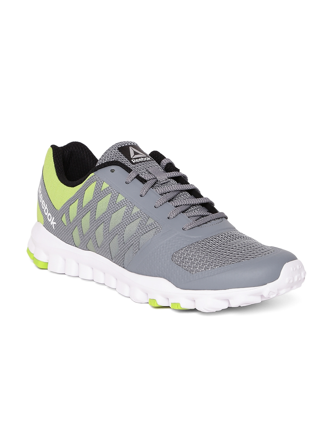 d7a2f2654e698 Buy Reebok Men Grey   Lime Green Realflex Training Shoes - Sports ...