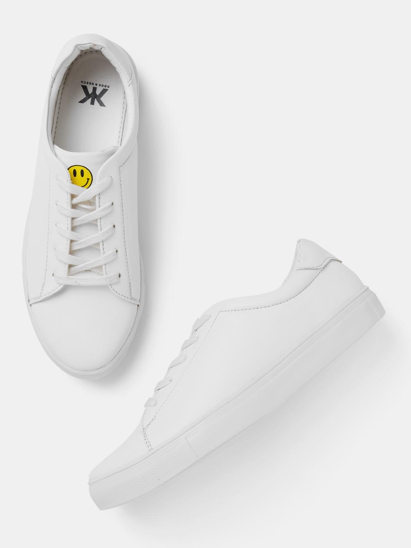 Buy Kook N Keech Women White Sneakers
