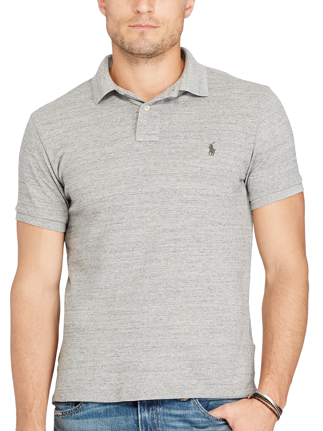 5bc9ee27 Buy Polo Ralph Lauren Custom Fit Weathered Mesh Polo - Tshirts for ...