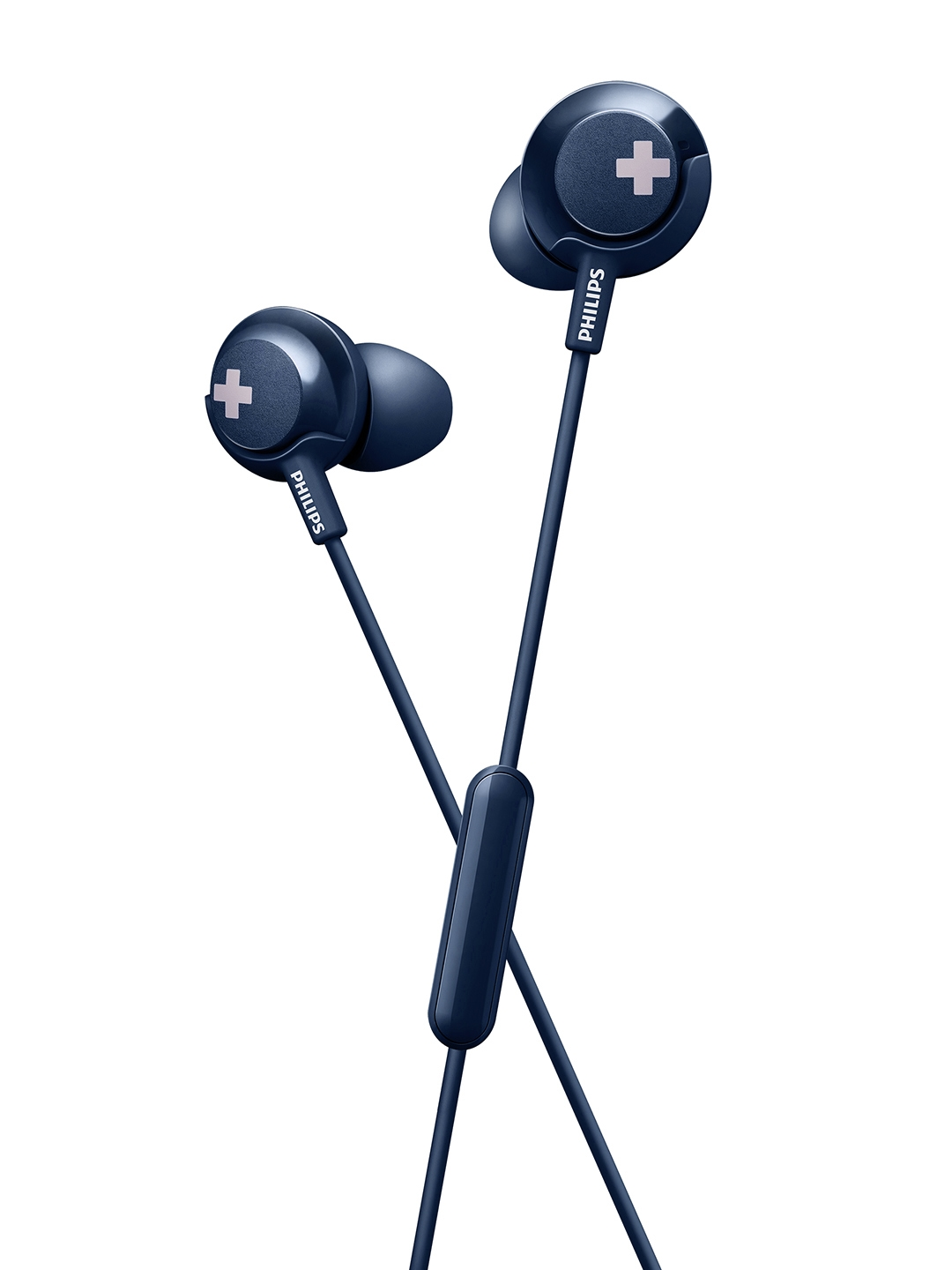 Philips Blue In Ear BASS+ Headphones with Mic SHE4305BK