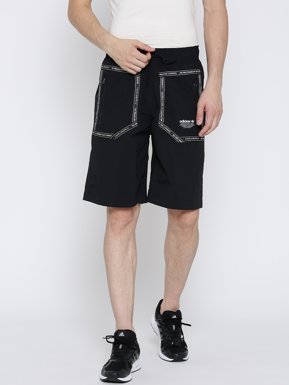 239962ca00e3e Buy ADIDAS Originals Men Black Printed Reversible Sports Shorts ...
