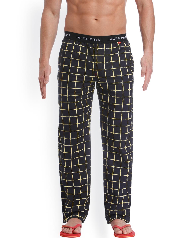 cda0fc193eac Buy Jack   Jones Black   Yellow Checked Pyjamas 1954256004 - Lounge ...