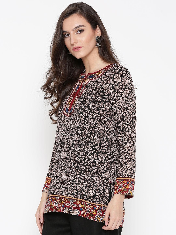 8ff5e8ca7d Buy Biba Black & Beige Floral Print Kurti - Kurtis for Women 2007830 ...