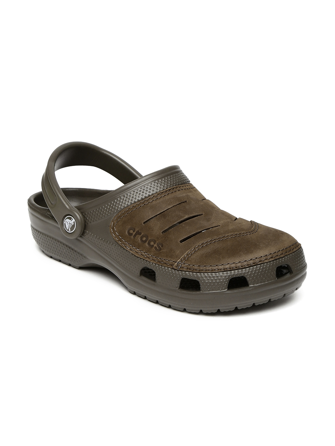 e5feb0dfd5442 Buy Crocs Men Brown Bogota Clogs - Flip Flops for Men 2009094