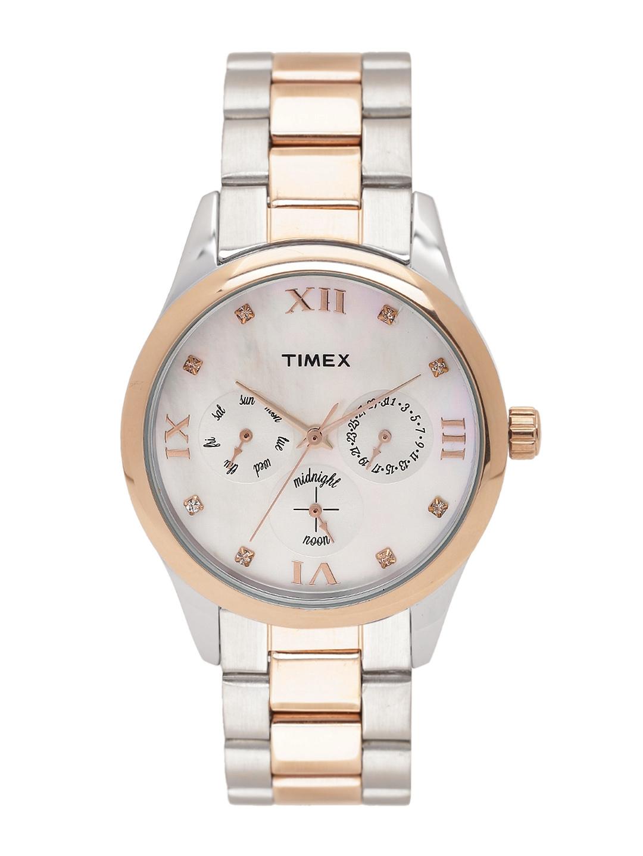 Timex Women Off White Analogue Watch TW000W205
