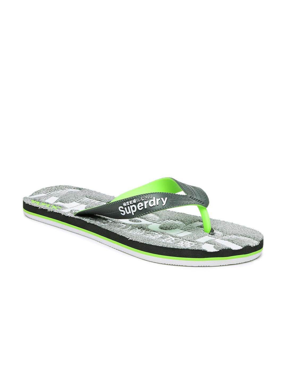 b9858e2b5e5990 Buy Superdry Men Grey Printed SCUBA MARL Flip Flops - Flip Flops for ...